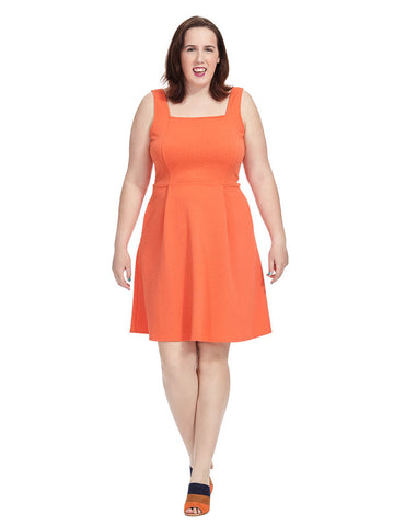 Fit & Flare Dress In Orange