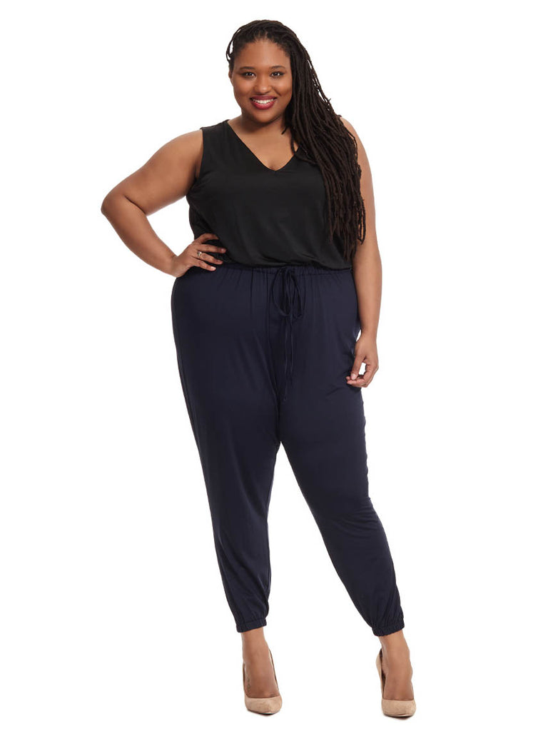 Gigi Jumpsuit in Black & Indigo