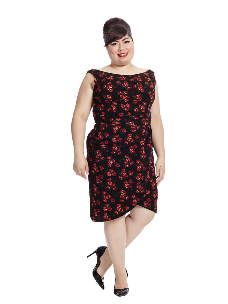 Georgia Floral Dress In Black