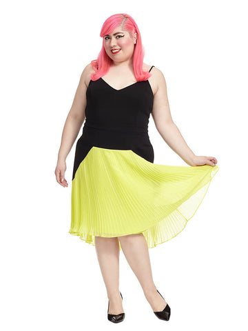 Citron Pleated Dress