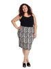 Ivory & Black Jacquard Skirt