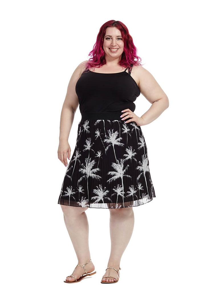 Becrux Skirt In Palm Print