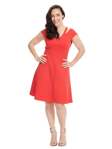 Vermillion Cutout Dress