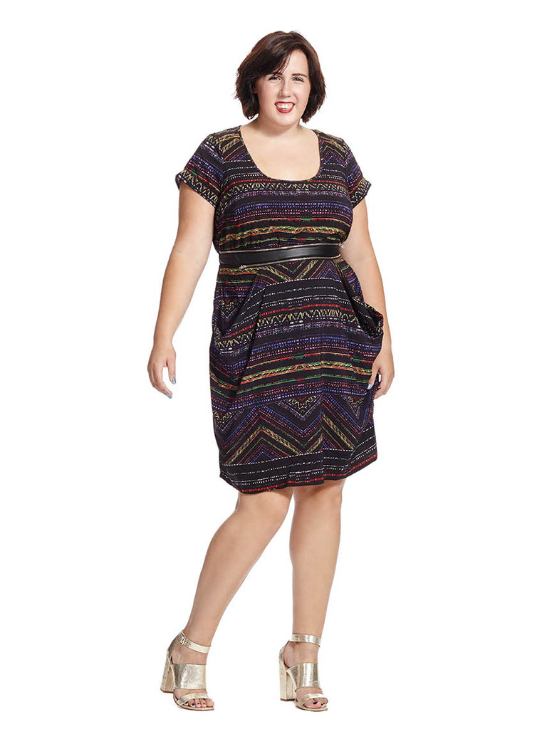 Rainbow Aztec Tunic Dress