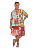Fiesta Button Dress In Multi