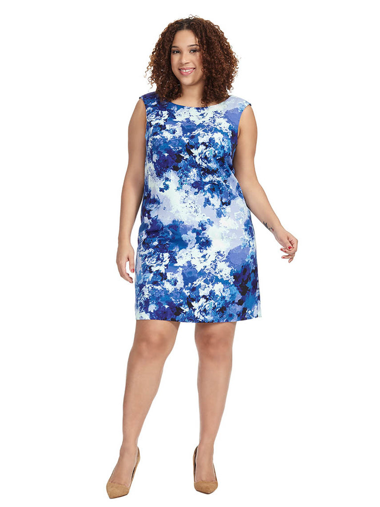 Dress In Blue Floral Print