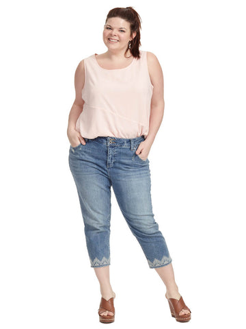 Emma Crop Jean In Blue Palms