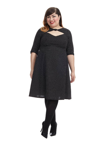 Daphne Dress In Pin Head Dots