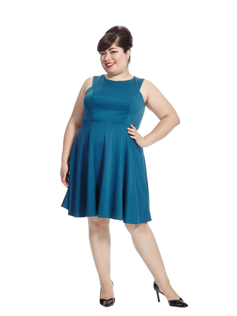 Blaire Dress In Teal