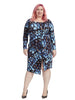 Abstract Printed Asymmetric Dress