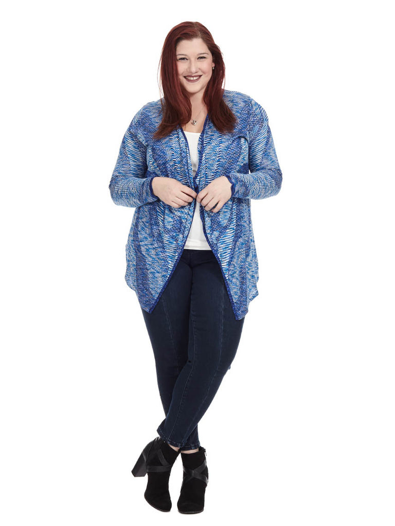 Goddess Blue Jacquard Cardigan
