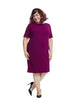 Sheath Dress In Magenta