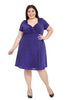 Knot Front Dress In Purple Diamond
