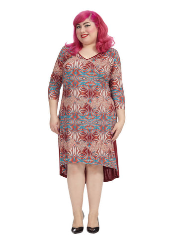 Festival Printed Hi-Lo Dress