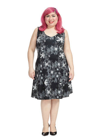 Abstract Floral Juliet Dress