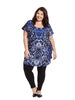 Abstract Print Front Bam Tunic