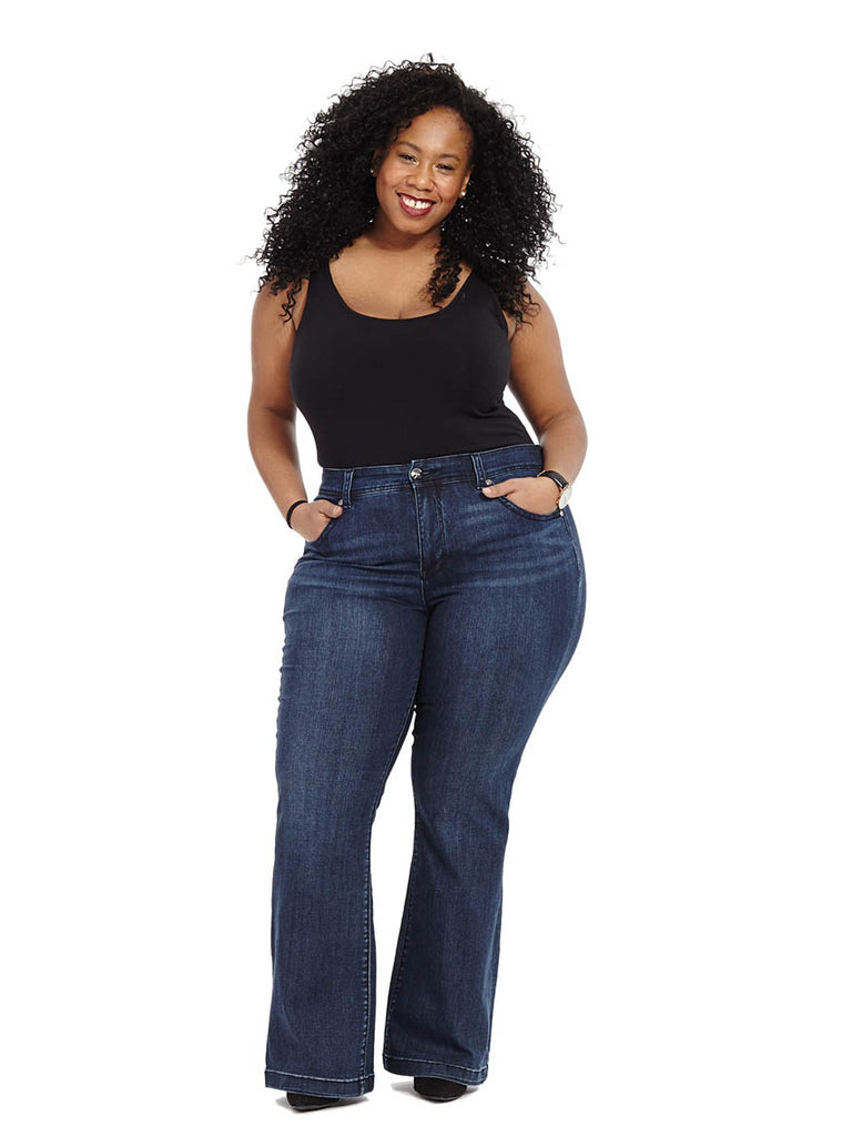 Slim Flare Jean In Blissful Wash