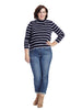 Evening Blue Stripe Turtleneck Sweater