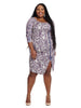 Mix Printed Asymmetric Dress