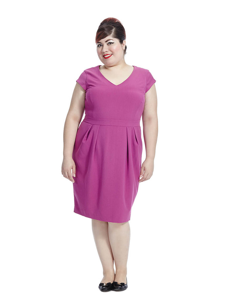 Tailored Dress in Fuchsia