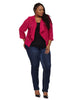 Drape Back Jacket In Raspberry