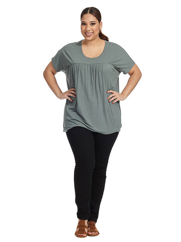 Disa Tee In Balsam Green