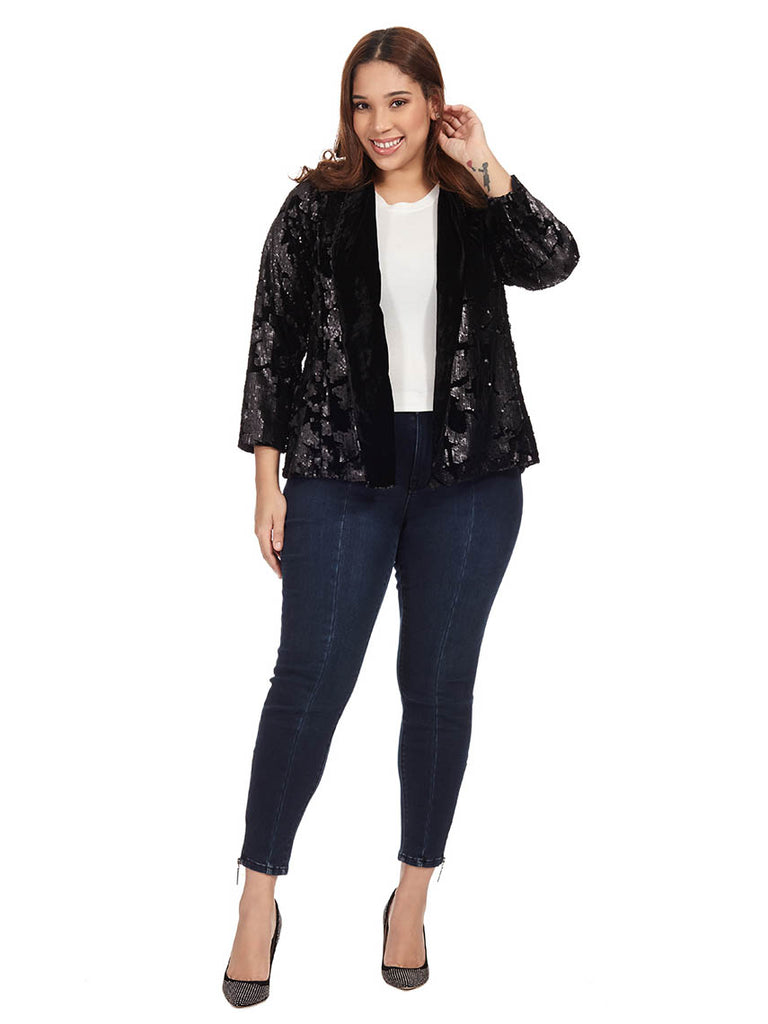 Velvet & Sequin Jacket