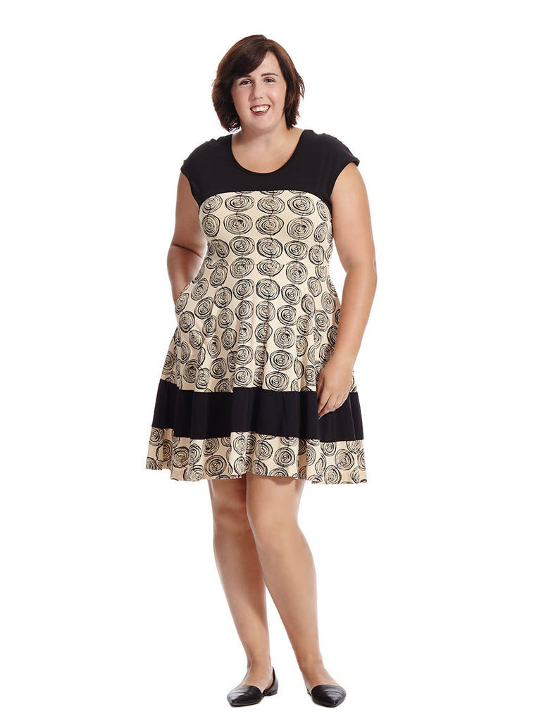 Napoli Dress In Coil Print