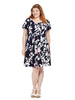 Panel Dress in Hawaiian Floral Print