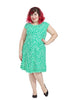 Zig Zag Dress In Green