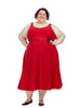 Red Tea Length Dress