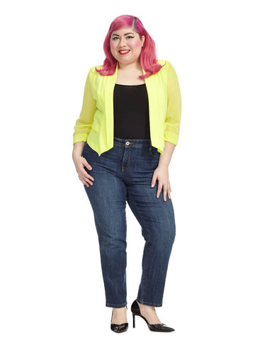 Cropped Blazer In Daffodil