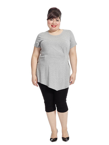 Asymmetrical Top In Heather Gray