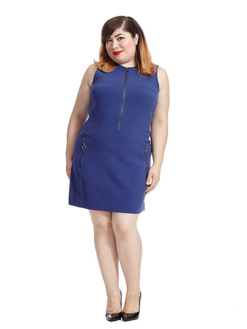 Hilary Dress In Dark Lapis