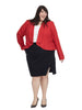 Waterfall Jacket In Red Velvet