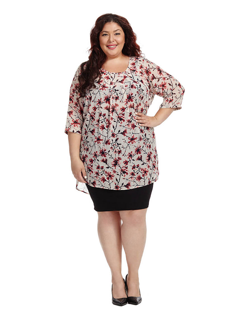 Roy Floral Print Tunic Top