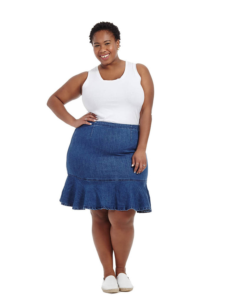 Flippy Denim Skirt
