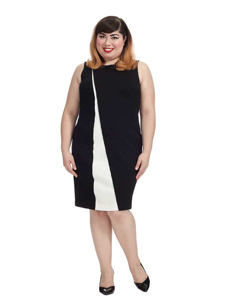 Zip Detail Sheath Dress