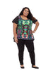 Abstract Jungle Hi Lo Top