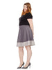 Shades Of Grey Colorblock Skater Skirt