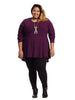 Potent Purple Peplum Top