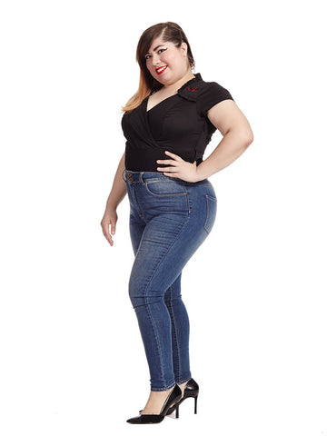 High Rise Skinny Jean In Griffith Wash