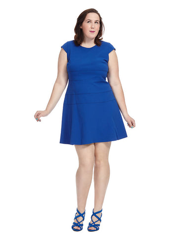 Fit And Flare Seamed Dress