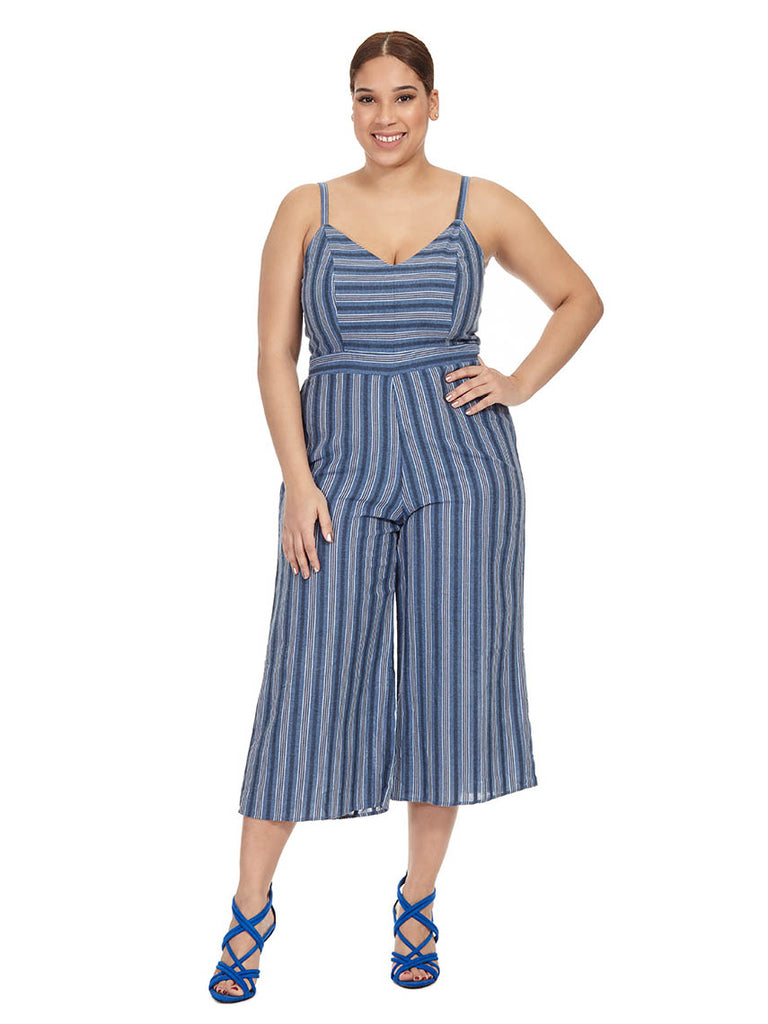 Gaucho Cut Out Tank Jumpsuit