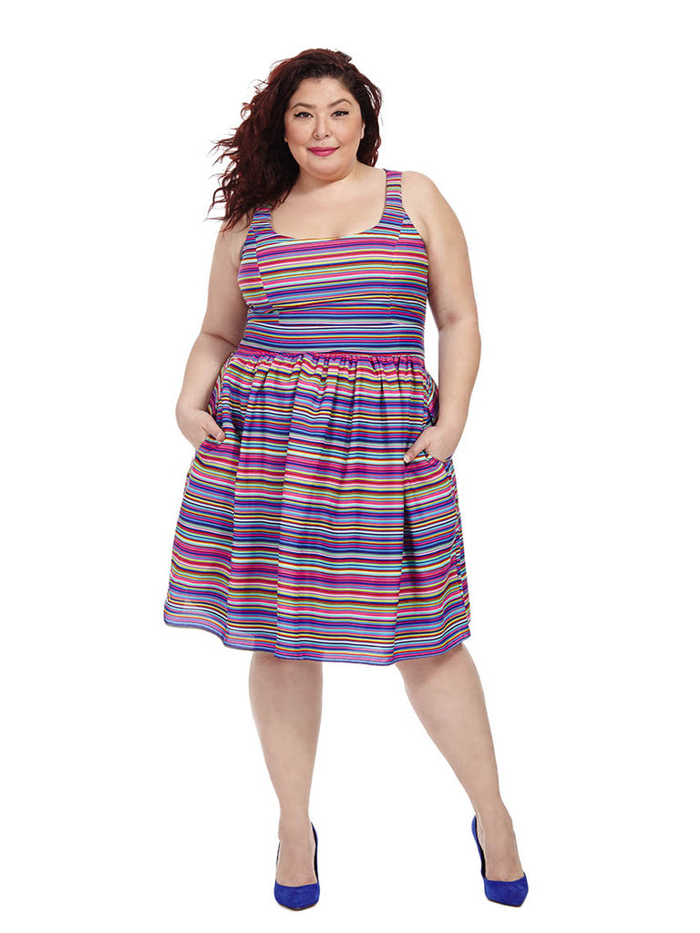 Dahlia Stripe Dress