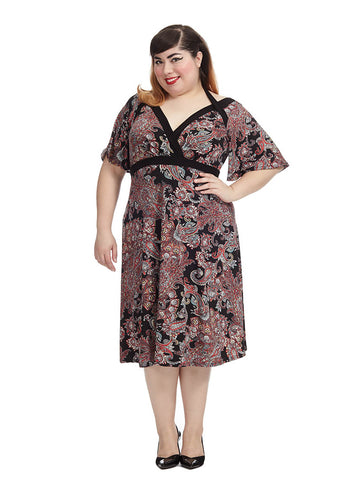 Starlet Dress In Baroque Floral Print
