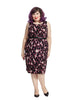 Leopard Print Shantung Dress