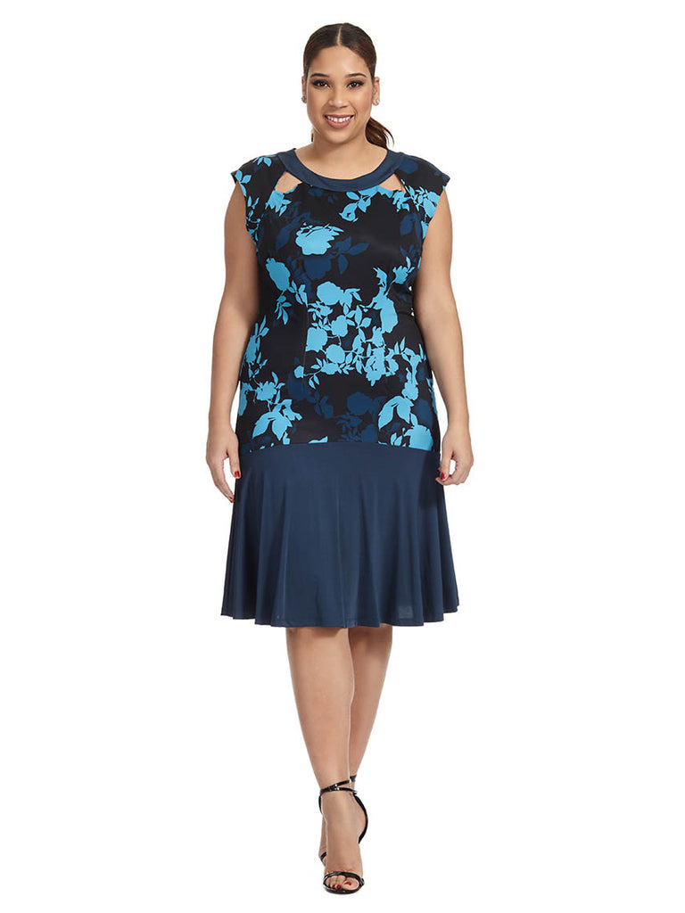 Floral Shadow Gemma Dress
