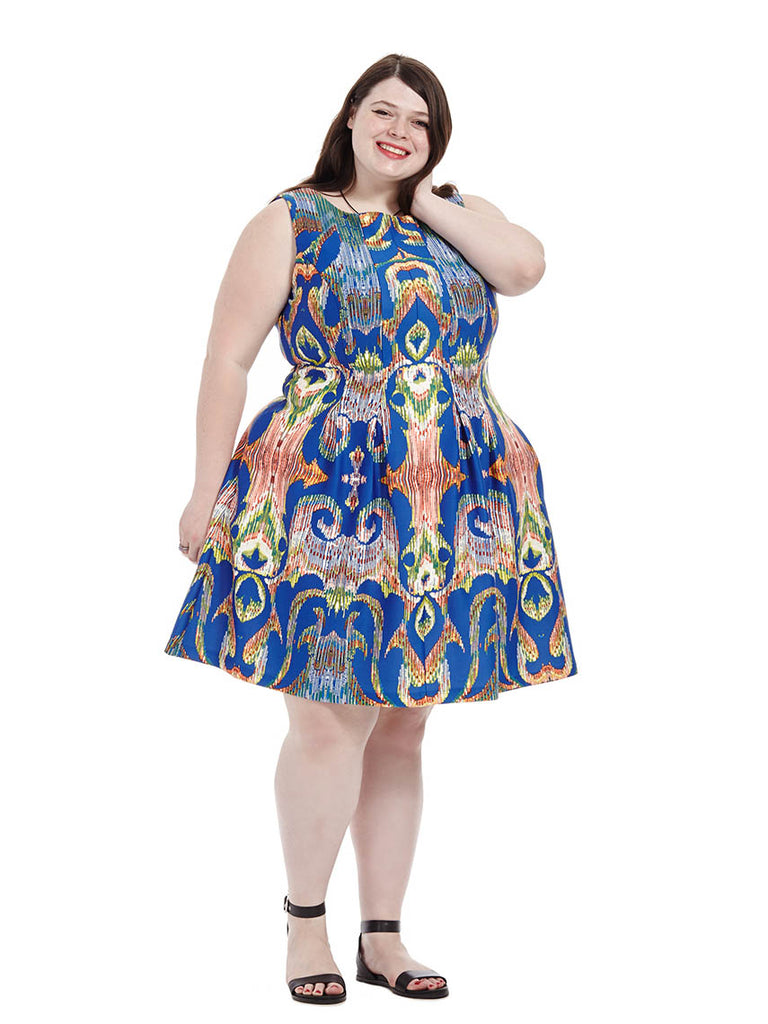 Kaleidoscope Print Dress In Periwinkle