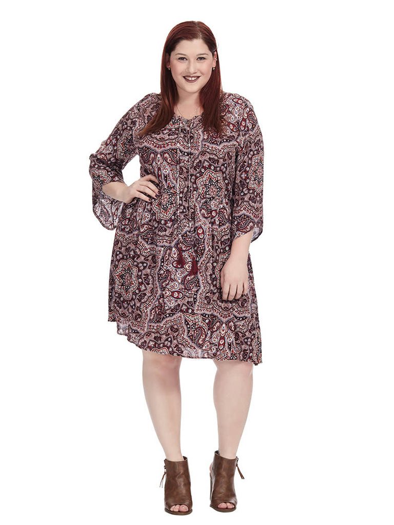 Paisley Peasant Dress